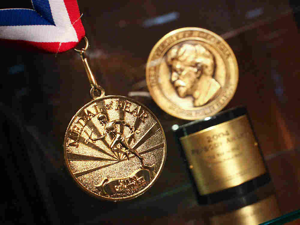 NPR's Medal Of Fear alongside NPR's Peabody Award