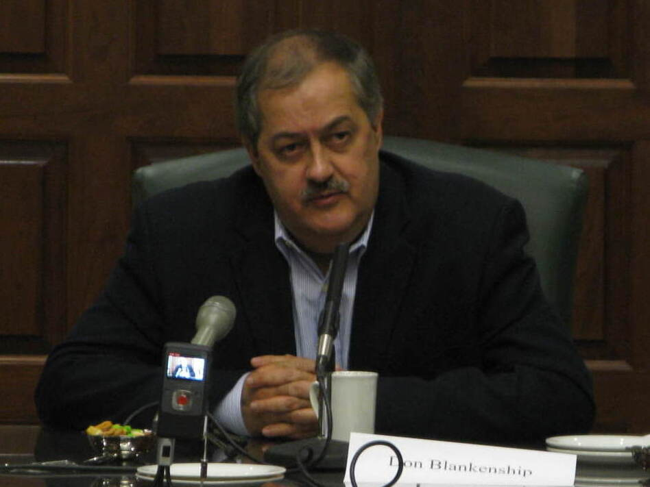 Massey Energy CEO Don Blankenship took questions from a selected group of reporters for more than two hours at the company's West Virginia offices Friday.