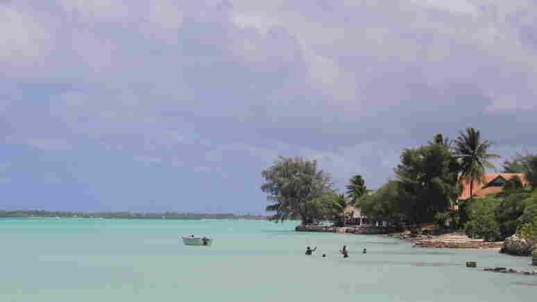 Lagoon in South Tarawa, Kiribati.