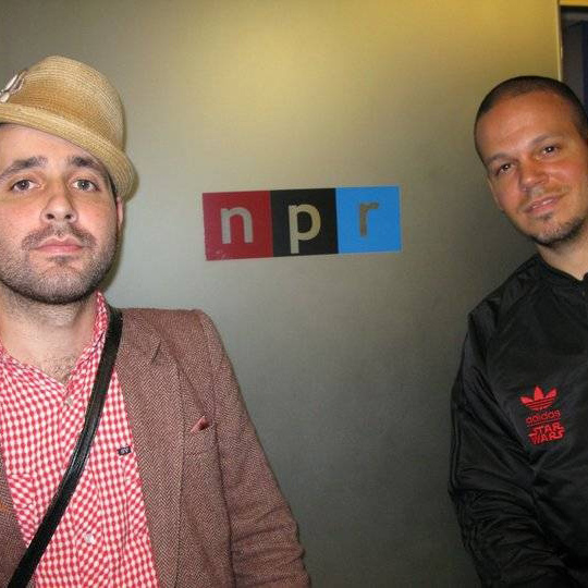 Residente and Visitante at the NPR offices in New York.
