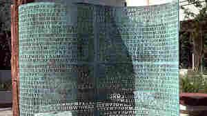 The Kryptos puzzle at CIA headquarters in Langley, Virginia