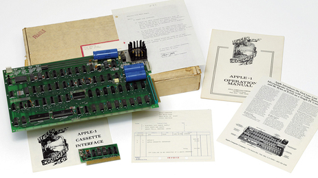 The Apple 1, with box and manuals.