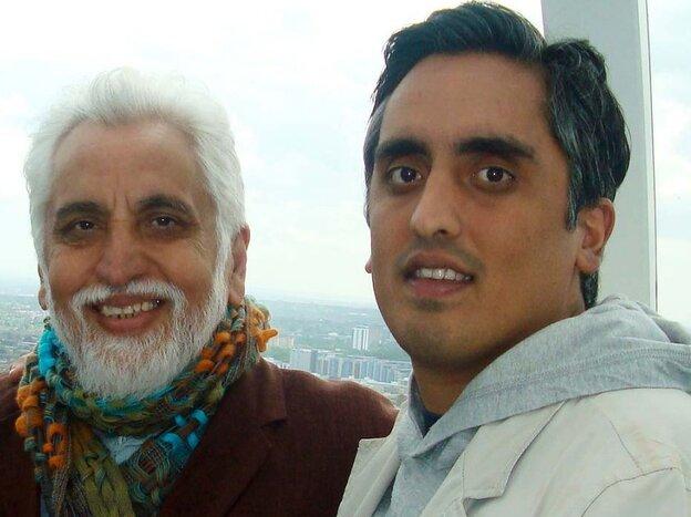 Arsalan and father Dr. Tariq Iftikhar