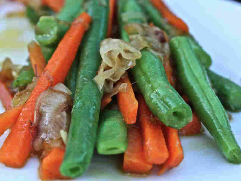Caramelized Shallots, Carrots And Green Beans