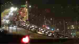 Traffic on the West Seattle Bridge is gridlocked coming out of downtown Monday, Nov. 22, 2010, in Se