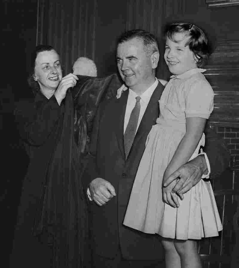 Justice William Brennan with daughter Nancy and wife Marjorie.