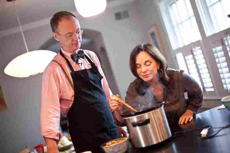 Chef Chris Kimball of America's Test Kitchen shows NPR's Renee Montagne some new twists on Thanksgiving classics.
