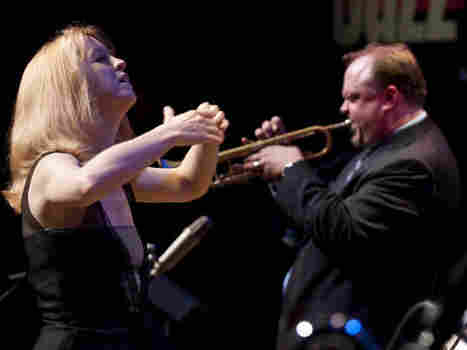 Maria Schneider conducts at the 2009 Mary Lou Williams Women in Jazz Festival.