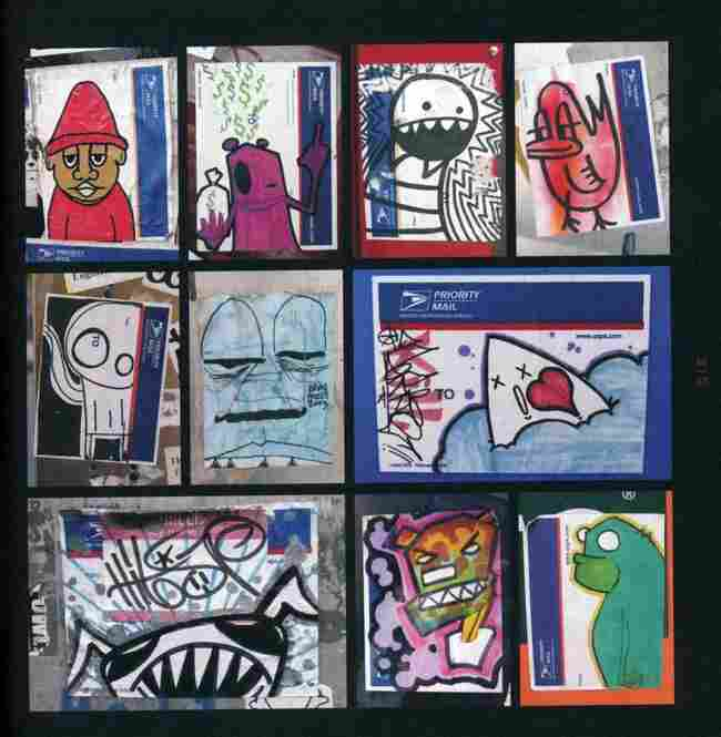 going postal mail stickers as street art the picture show npr
