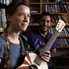 Arone Dyer and Aron Sanchez of Buke and Gass perform a Tiny Deck Concert at the NPR Music offices.