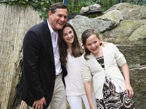 Craig Hatkoff and his daughters