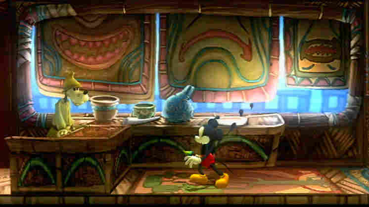 Mickey Mouse in the game Epic Mickey.