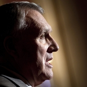 Sen. Jon Kyl (R-AZ) speaks during a press conference in Washington, DC.