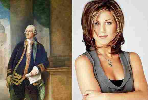 Photos of the Earl of Sandwich and Rachel from Friends