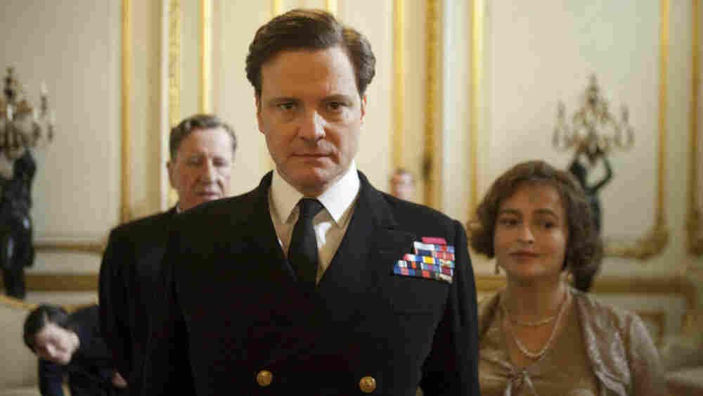 Geoffrey Rush, Colin Firth and Helena Bonham Carter