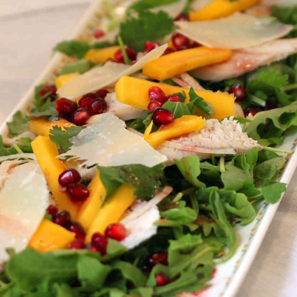 Recipe: Chicken Salad With Mango And Pomegranate : NPR