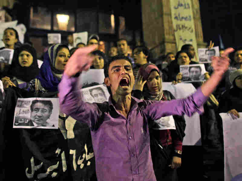 Opposition activists protest Sunday's parliamentary elections