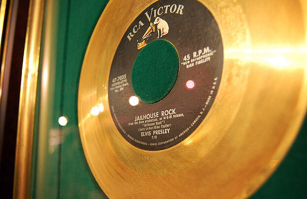 Gold record for Elvis Presley's 'Jailhouse Rock'