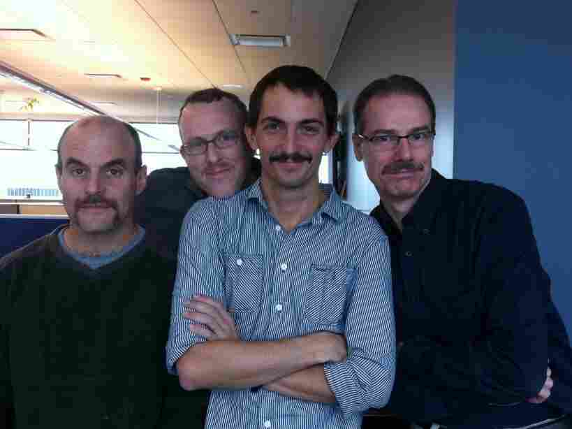 Our mustaches.