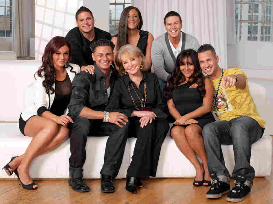 Barbara Walters and the cast of Jersey Shore