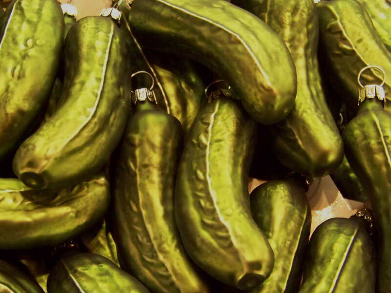 From Flickr: Pickle Ornaments : The Picture Show : NPR