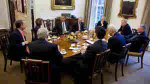 President Obama meets with congressional leaders.