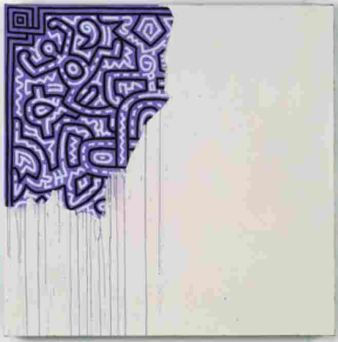 In 1990, more than 18,000 Americans died of AIDS, painter Keith Haring being one of them. Unfinished Painting, 1989