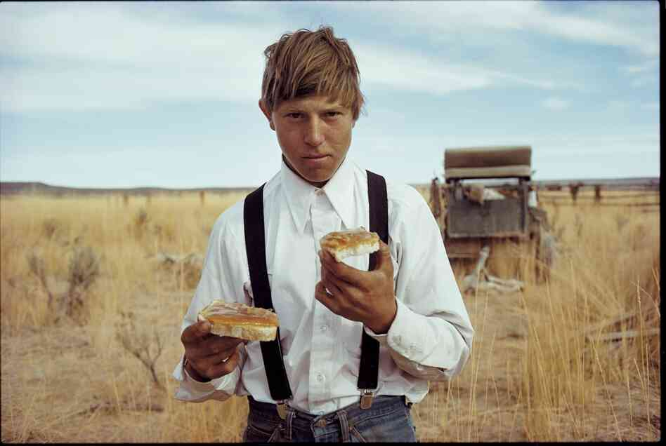 Buckaroo T. J. Symonds, IL cow camp, Nevada, 1979
