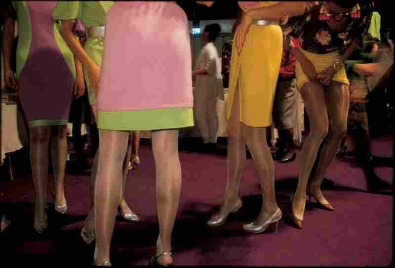 Ungaro models backstage, Paris, 1988
