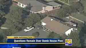 "Aerial view of a home in Escondido that police say was a ""bomb factory."""