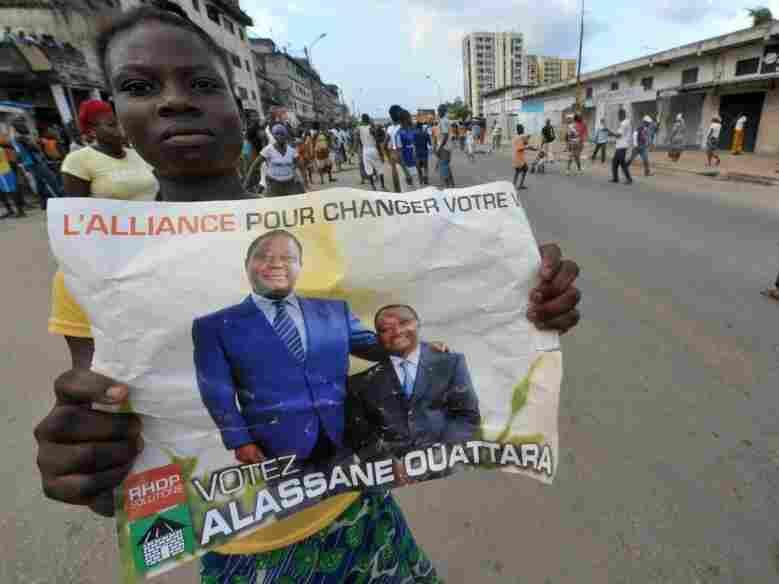 A supporter of Alassane Quattara.