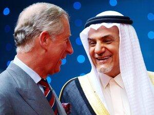 Britain's Prince Charles with Prince Turki Al Faisal Bin Abdulaziz Al Saud of Saudi Arabia