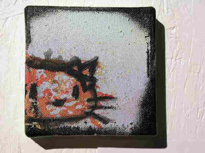 Untitled Kitty is a mixed media work by celebrity musician Pete Wentz from the band Fallout Boy.