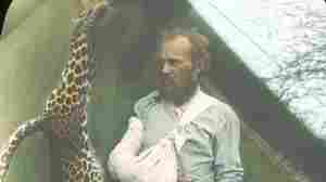 Famed Taxidermist Carl Akeley and the leopard he killed with his bare hands.