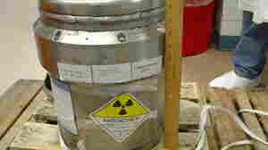 A container for shipping radioactive medical material
