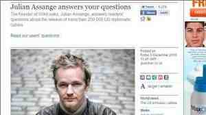 WikiLeaks founder Julian Assange answered Guardian readers' questions.
