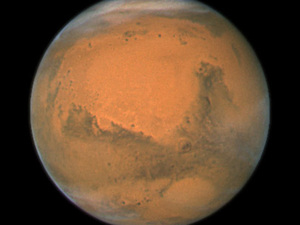 Close-up of Mars