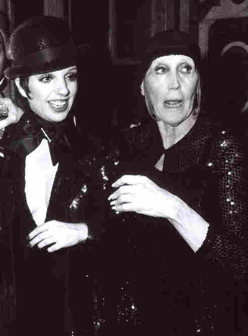 In 1974, Thompson directed a prominent fashion show at the Palace of Versailles. She is shown here with her goddaughter Liza Minnelli, one of the show's performers.