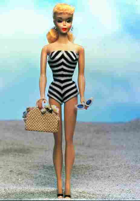 When the first Barbie doll debuts in 1959, it's an adult doll unlike any other dolls of the time — long limbed, shapely and fashionable. The 11 ½-inch tall plastic Barbie was named after the daughter of creators Ruth and Elliot Handler. Within 10 years of Barbie's release, $500 million worth of Barbie products are sold.