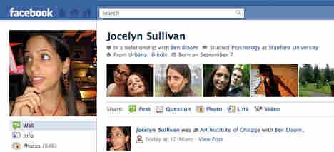 A new-look Facebook profile.