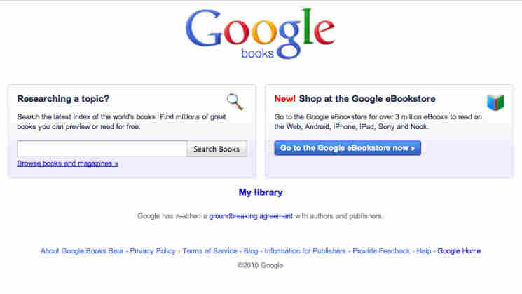 A screen shot shows the new Google books options