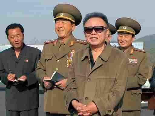 North Korean leader Kim Jong-Il visits the Taedonggang Combined Fruit Farm in Pyongyang