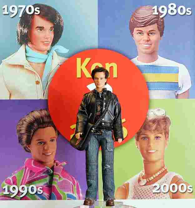 Mattel releases Barbie's boyfriend in 1961. Like his girlfriend, the Ken doll is fashionable and comes with accessories. His hair has gone from felt to plastic over the years to reflect the style of the time. Ken doll is named after the son of Barbie creators Ruth and Elliot Handler.
