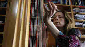 Yolanda Kondonassis plays the harp for a Tiny Desk Concert on October 12, 2010.