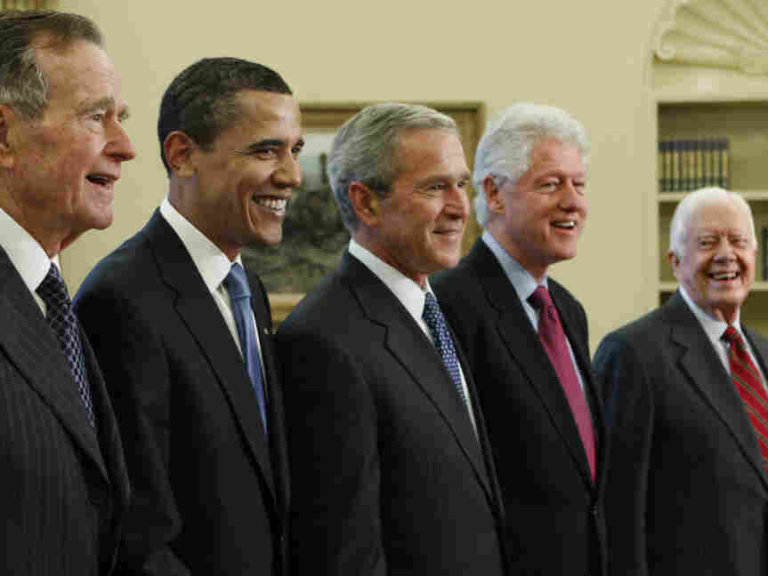 George W. Bush, Barack Obama, Bill Clinton, Jimmy Carter, George H.W. Bush