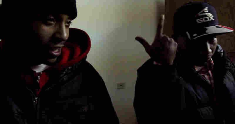 DJ Spinn (left) and DJ Rashad of the DJ group Ghetto Tekz.