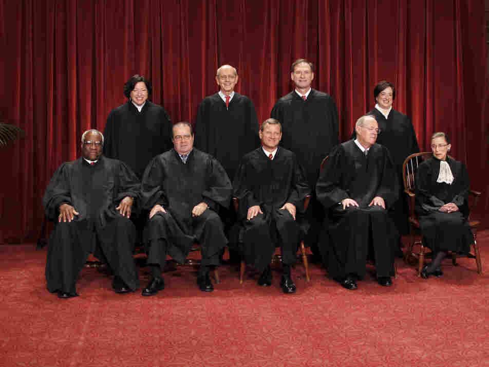 Clarence Thomas, Antonin Scalia, John G. Roberts, Anthony M. Kennedy, Ruth Bader Ginsburg, Sonia Sotomayor, St