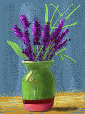 Fresh Flowers, Davide Hockney
