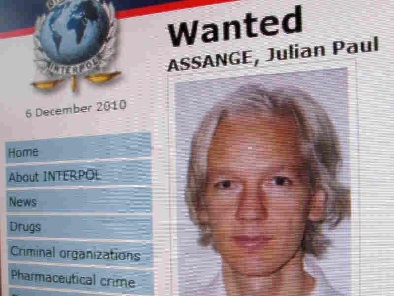 An interpol arrest appeal for WikiLeaks founder Julian Assange