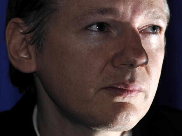 WikiLeaks founder Julian Assange during an Oct. 23 news conference in London.